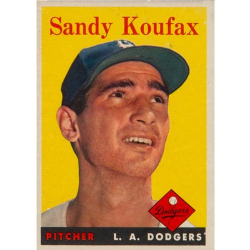 1958 Topps Baseball Sandy Koufax