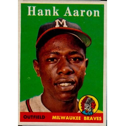 1958 Topps Baseball Hank Aaron