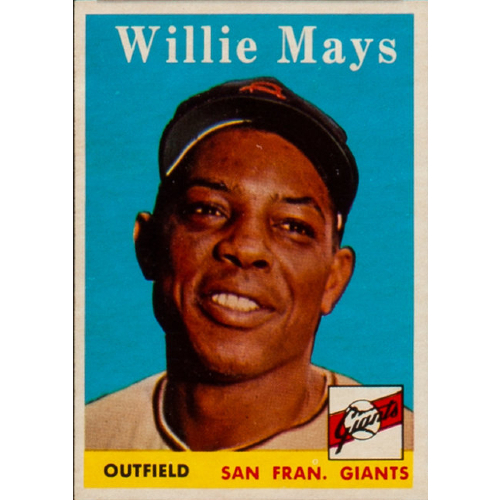 1958 Topps Baseball Willie Mays