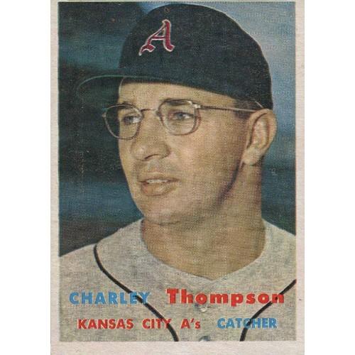 1957 Topps Baseball Thompson