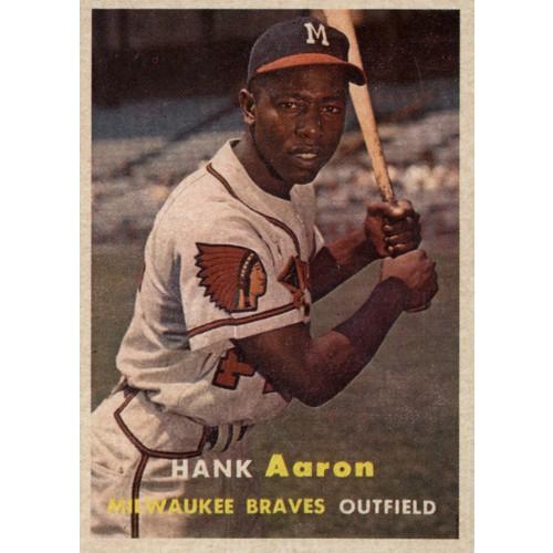 1957 Topps Baseball Aaron