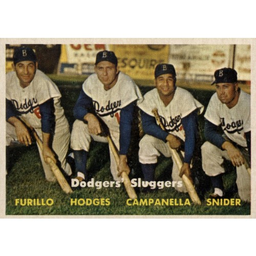 1957 Topps Baseball Dodgers