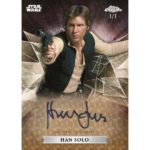 2019 Topps Star Wars Chrome Legacy Harrison Ford Auto