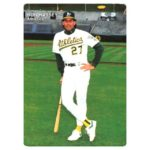 1990 Mother's Cookies Oakland Athletics baseball card checklist